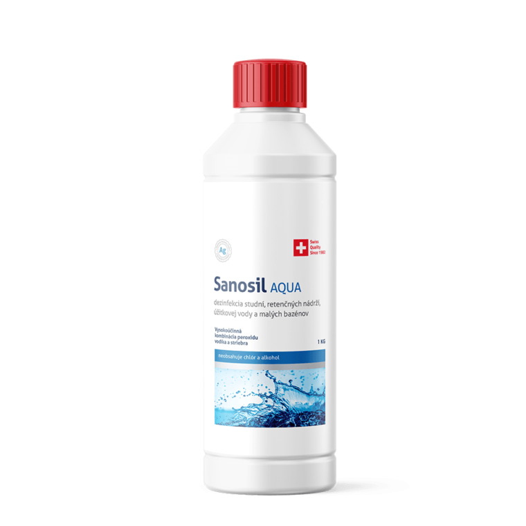 Sanosil Aqua - prostriedok na veľmi znečistenú, organicky kontaminovanú vodu, balenie 1kg