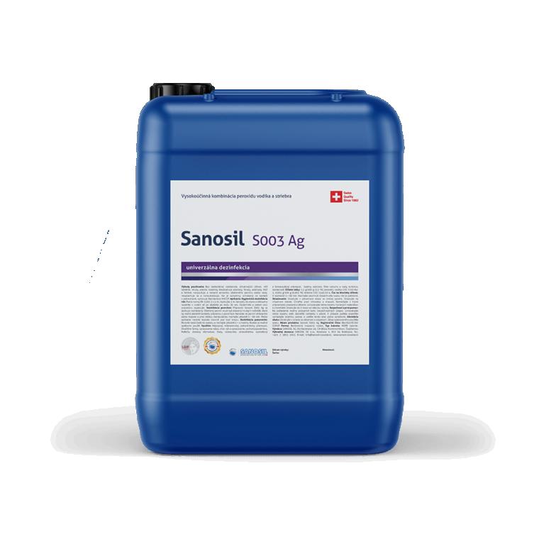 Sanosil S003/DETECTAIR, 25kg balenie - Dezinfekcia gastro prevádzky kuchyne, sanitárne zariadenia,dezinfekcia hračiek a umývateľné plochy proti vírusom, baktériám a plesni