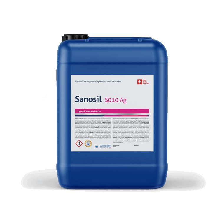 Sanosil S010 Ag/DETECTAIR, balenie 5kg - Dezinfekcia vírusov, baktérií a plesni, 500g rozprašovač