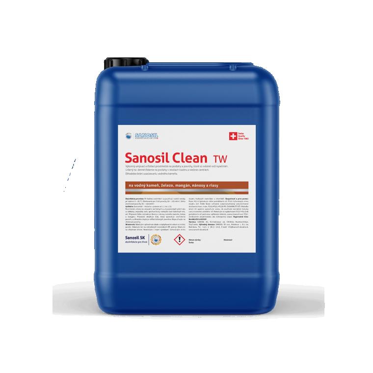 Sanosil Clean TW/R, balenie 25kg - odstraňovanie vodného kameňa, mangánu, železa, nánosov a rias.